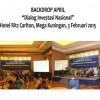 Backdrop APRIL, Dialog Investasi Nasional